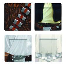 STAR WARS CLASSIC JEDI 1 MELAMINE PLATE SET 4-PIECE  NEW IN BOX LUKE CHEWY