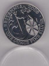 2008 SILVER £2/1oz. BRITANNIA IN MINT CONDITION WITH A CAPSULE