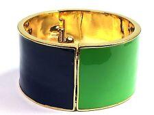 Kate Spade Au Contraire Bracelet NWT Green & Navy Split MOdern Chic!