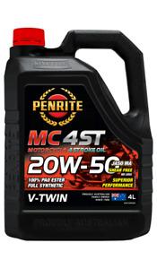 PENRITE MC-4 V Twin Motorcycle Oil - 20W-50, 4 Litre