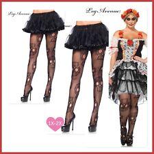 Sugar Skull net Pantyhose tights Halloween day of the dead leg avenue Black Plus