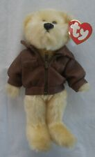 "Ty BARON THE BEAR 9"" Leather Jacket Fly High TY Beanie Baby Attic Treasures"