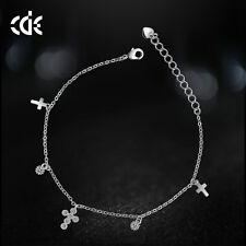 de Luxe Bracelet breloques avec SWAROVSKI CRISTAUX ZIRCON 18 18 carats plaqué or