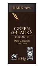 4 x 100 g Green & Black's chocolat noir 70% Cacao   4 X 100 G   Free p&p