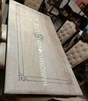 5'x3' Inlay Italian Marble Dining Table Top Paua Shell Marquetry Rare Work E948E