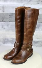Matisse Britain Warm Brown Distressed Leather Tall Riding Boots Womens 8.5 M
