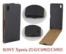 HOUSSE ETUI COQUE CUIR LUXE A RABAT SONY ERICSSON XPERIA Z1