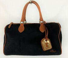 DOONEY & BOURKE  Tote Bag Purse Nylon Handbag Leather Trim BLack Medium