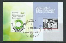 AUSTRALIA 2012  OLIVIA NEWTON-JOHN / ANZUS SHEETLET FINE USED .