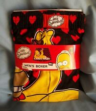 """THE SIMPSONS HOMER """" LADIES MAN""""  W/ HEARTS SIZE XL. NEW IN  PACKAGE. FREE SHIP"""