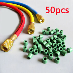 "50Pcs Charging Hose A/C 1/4"" Manifold Repair Sealing O-ring Replacement Kit"