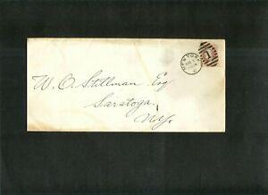 US ENTIRE #148 pmk 8-1-1882 New York City to Saratoga, NY.  w/ Bold Ellipse XCL