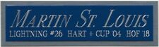 MARTIN ST. LOUIS TB LIGHTNING NAMEPLATE FOR AUTOGRAPHED Signed HOCKEY JERSEY