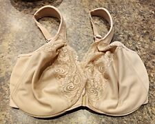 Glamorise  34F Women's Full Coverage  Stretch Lace Front Closure Nude Free Ship
