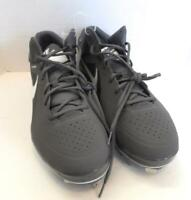 NEW Mens NIKE Baseball Shoes Cleats size 16 grey Flywire AirMax