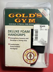 Golds Gym Deluxe Foam Hand Grips Classic Series Style No. G736 Exercise Fitness