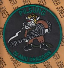 "USAF Air Force 25th Fighter Squadron FS Pilsung 25th AMU Draggins 3.75"" patch"