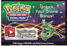 POKEMON ONLINE CODE CARD FROM THE SHINY RAYQUAZA EX BOX