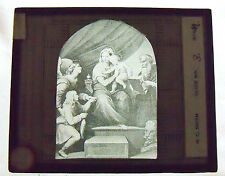 Magic Lantern Glass Slide - Religious - Madonna with the Fish - Artist: Raphael