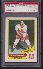 1976 / 77 OPC WHA #57 JOHN MISZUK  PSA 8 nm/mt  o-pee-chee Calgary COWBOYS