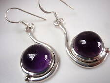 New Round Amethyst 925 Sterling Silver Earrings India