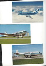 Transair/Quebecair airlines issued planes lot of 3 postcard