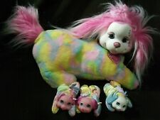 Puppy Surprise Plush Stuffed Animal Dog Tia Tie Dye 3 puppies 1 Barking Puppy