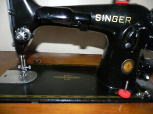 CENTENNIAL EDITION Singer Sewing Machine 201k SEWING MACHINE WITH ATTACHMENTS