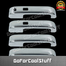 For Ford F-150 2015-Up 4Drs Chrome Handle Cover W/Smkh, W/O Pskh