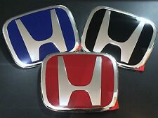 JDM 2PCS RED BLACK BLUE H EMBLEM CIVIC CRV CRZ CITY FIT HRV ODYSSEY S2000