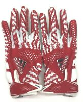 adidas Adizero 5.0 Football Gloves White/Red Size Small - NEW