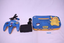 [Fasterst EMS ship] Nintendo 64 Console pikachu blue yellow N64 pokemon tested