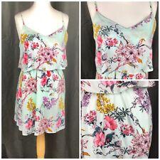 Vestido De Verano H&M Floral Con Tiras Talla 14