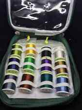 12x Large Spools of Floss in a Plastic Protective Bag 12 Different Colours