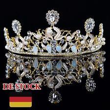Chic Strass Perle Opal Diadem Hochzeit Tiara Festzug Krone Stirnband Haarschmuck
