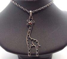 "Fine Cut Out Giraffe Design Sterling Silver 925 Necklace 7g 18.5"" BCN2089"