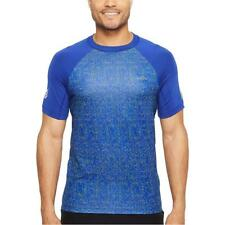 New Lacoste Men's Performance All Over Print Ultra Dry Crew Neck Tee T-Shirt
