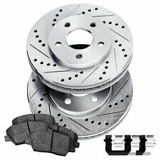 Rear Drilled Slotted Brake Rotors and Ceramic Brake Pads BLCR.46028.02