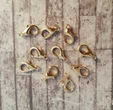 100 Lobster Clasps, 14mm, Bronze Tone, Parrot Clasps, Jewellery Making, Supply