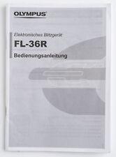 Bedienungsanleitung Olympus FL-36R fl36r FL-36-R FL36R Anleitung