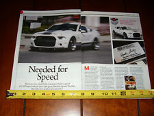 NEED FOR SPEED SHELBY GT500 SUPER SNAKE 750 HP - ORIGINAL 2013 ARTICLE
