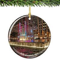 Radio City Porcelain Christmas Ornament, Rockettes Ornaments Keepsake Gift