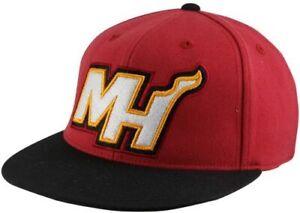 NBA Miami Heat Flat Bill Flex Adidas Hat - Size S/M TU35Z - New
