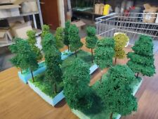 5 x LARGE HAND MADE TREES APPROX 200MM TALL... 1/35 SCALE TAMIYA