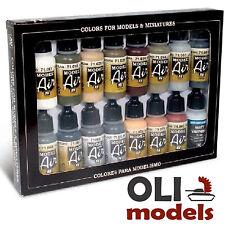 Wwii German Europe & Africa Colors Model Air Paint Set 16x17ml - Vallejo 71208