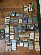 Lot de 30 calculatrices défectueuses HS pour pièces Texas Instruments, Casio etc