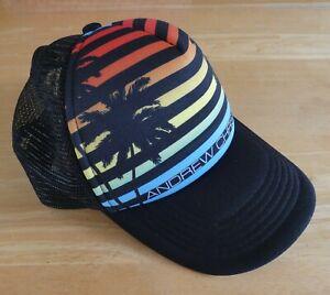 Mens Andrew Christian Adjustable Baseball Cap - Palm Tree Sunset