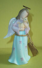 """About Face Designs Angel Figure- Best Friends Angel Holding Cat -5 1/4"""" Tall-NWT"""