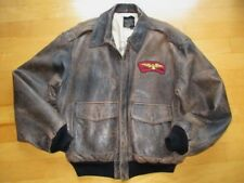Men's Vintage AVIREX Distressed  A2 Flght Pilot Jacket Hollywood Canteen RARE M