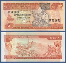 Etiopía/Ethiopia 5 Birr (1991) UNC p.42 B